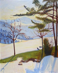 rigi im winter by fritz zbinden