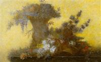 opstilling med blomster i en vase by auguste jouve