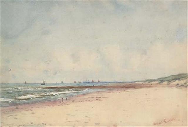 view off the belgium coast by theodosia eagleston