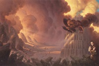 hungry city chronicles - mortal engines (cover for novel) by christophe vacher
