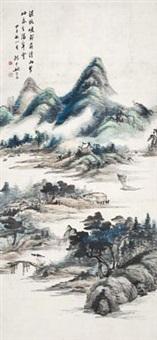 归舟图 by yao shuping