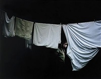 girl behind laundry by julia peirone