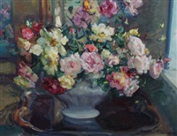 still life of flowers by hubert glansdorff