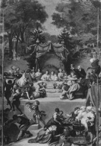 allegorische darstellung aus der geschichte des gräflichen hauses solms by franz theodore grosse