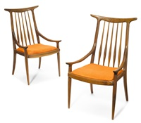 hornback chairs (pair) by sam maloof