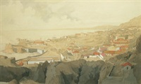 view of gibraltar by john hambleton holdcroft