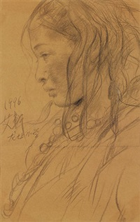 素描 纸本 by ai xuan