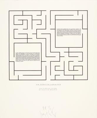 ein schiller labyrinth by joseph kosuth