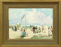 beach scene by davain lesage