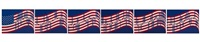 wav(er)ing flag (set of 6) by vito acconci