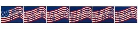 wavering flag set of 6 by vito acconci