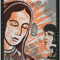 elvis meets the virgins of guadalupe by enrique chagoya