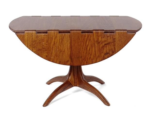 Drop Leaf Pedestal Table By Sam Maloof