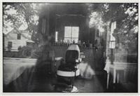 mcclellanville, south carolina (barbershop through a screen) by robert frank