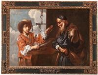 alegoría del gusto, o joven charcutero by bernhard keil