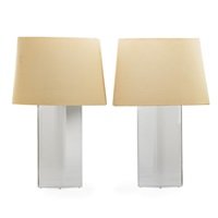 whaletail table lamps (pair) by les prismatiques