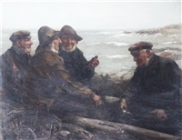 lobster men on the shore by william macdonald