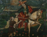 saint martin and the beggar by peruvian school-cuzco (19)