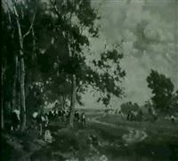 landliche szene by antal (august) liptai