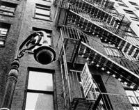 new york: feuerfluchtleitern in manhatten by klaus lehnartz