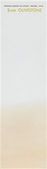 löschblatt. (olivestone) (+ derselbe. joesph beuys, farbiges offset auf karton, ca. 18 : 22) by joseph beuys
