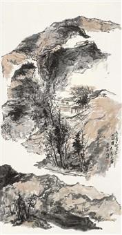 山上层层桃李花 (landscape) by ma gang