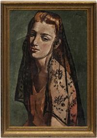 portrait de jeune femme by jeanne janebe (barraud pellet)