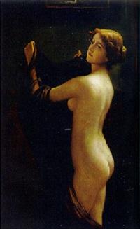 stehender akt einer blonden schönen by otto theodore gustav lingner