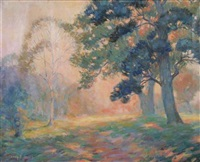 sun-dappled forest by henry bozeman jones