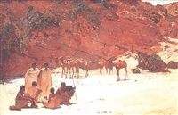 campement d'indigènes en abyssinie by paul buffet
