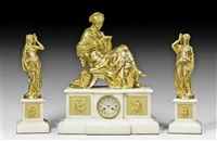 kamingarnitur la liseuse (set of 3) by alexandre schoenewerk