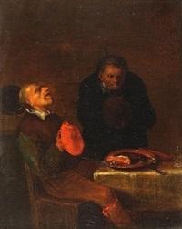 in der art von - zwei bauern im wirtshaus by egbert van heemskerck