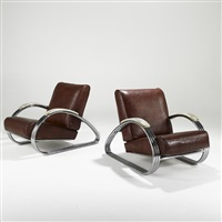 lounge chairs (pair) by k.e.m. weber
