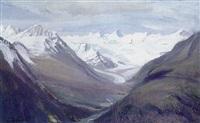 gletschermassiv im sonnigen licht by emmy lischke