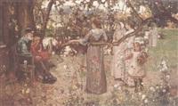 a summer gathering by john lochhead