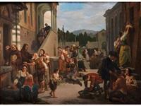 die sieben werke der barmherzigkeit by niccolo (nicola) sanesi
