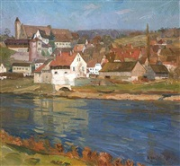 sägemühle in gundelsheim am neckar by hermann goebel