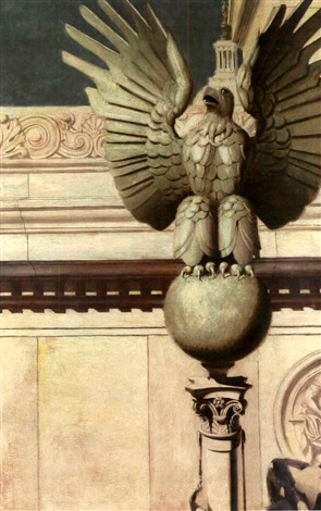 eagle near the us capital dome by pierce rice