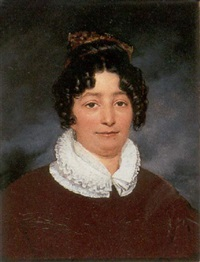 portrait of a lady by raymond auguste quinsac monvoisin