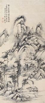 春山暮霭 立轴 纸本 by yao shuping