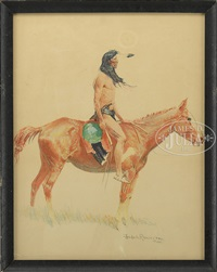 cheyenne buck by frederic remington