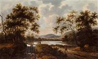 flodlandskab med vandringsmand by pieter cosyn