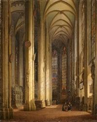das innere der sebalduskirche in nürnberg by simon quaglio