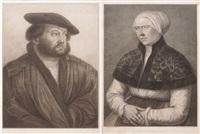 gegenstücke: portraits eines ehepaares, nach hans holbein by francesco bartolozzi