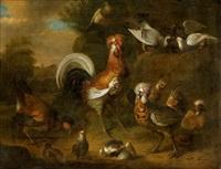 poultry farm by gysbert gillisz de hondecoeter