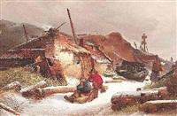 wintertag in einem holländischen küstendorf by karl adloff