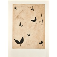 talking leaves ii; talking leaves iii; talking leaves iv; talking leaves v (4 works) by eva lootz