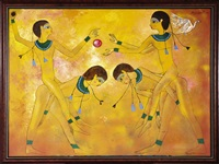 yellow girls-old kingdom: egyptian series by noel rockmore