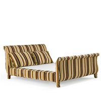 king sized upholstered bed by avery boardman