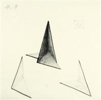 ohne titel (skulpturenentwurf) (design) by alf lechner